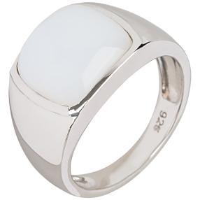 Ring 925 Sterling Silber Opal weiß