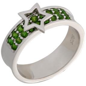 Ring 925 Sterling Silber Chromdiopsid