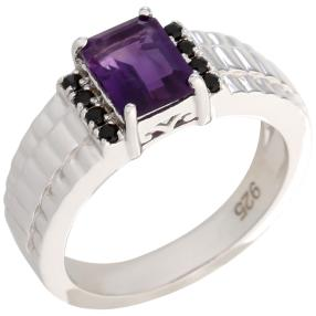Ring 925 Sterling Silber Amethyst, Spinell