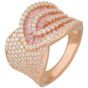 Ring 925 Sterling Silber rosévergoldet Zirkonia