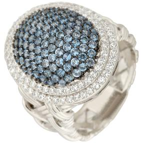 Ring 925 Sterling Silber Zirkonia blau