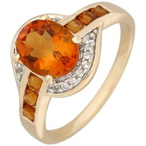 Ring 375 Gelbgold Madeira Citrin