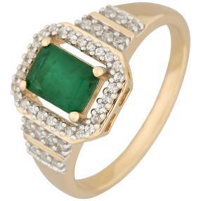 Ring 375 Gelbgold Sambia Smaragd
