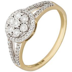 Ring 375 Gelbgold Diamanten