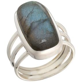 Ring 925 Sterling Silber Labradorit