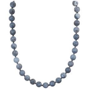 Collier Achat blau 45 + 5 cm