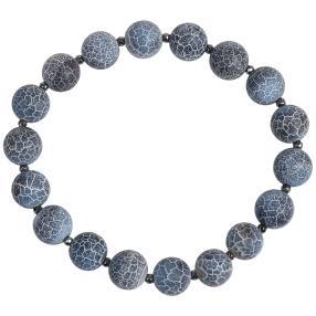 Armband Achat blau 20 cm