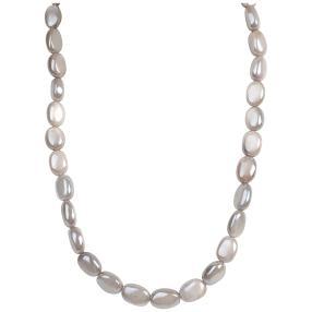 Collier Mondstein grau 925 Sterling Silber
