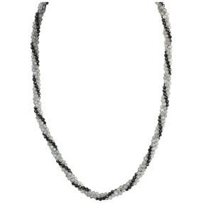 Collier Labradorit, Spinell 925 St. Silber
