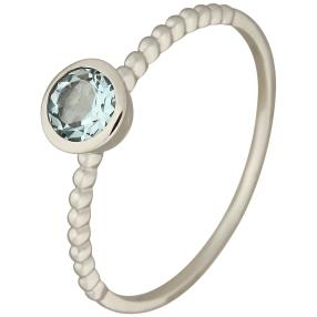 Ring 375 Weißgold Aquamarin