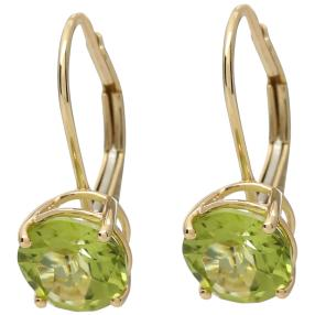 Ohrhänger 375 Gelbgold Peridot