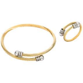 Set Armband + Ring Edelstahl