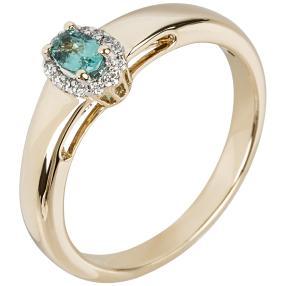 STAR Ring 585 Gelbgold AAAParaiba Turmalin