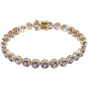 STAR Armband 585 Gelbgold AAAATansanit