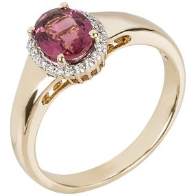 STAR Ring 585 Gelbgold AAARubellit