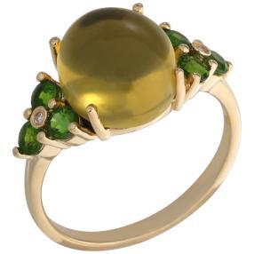 Ring 925 St.Silber vergoldet Bernstein grün Mexiko