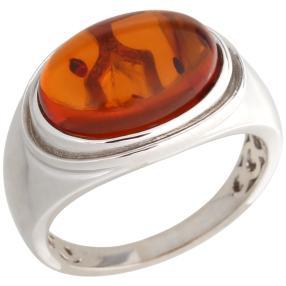 Ring 925 Sterling Silber, Bernstein