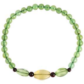 Armband Bernstein grün Karibik