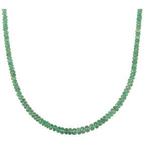 Collier Sambia Smaragd 585 Gelbgold