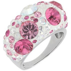 Ring 925 Sterling Silber Swarovski Elements pink