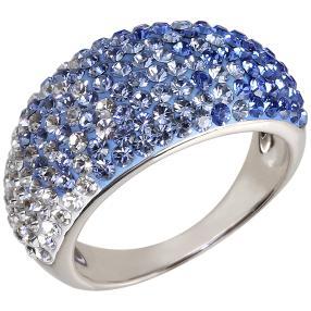 Ring 925 Sterling Silber Swarovski Elements blau