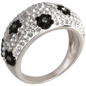 Ring 925 Sterling Silber Swarovski Elements Blumen