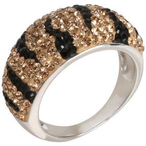 Ring 925 St. Silber Swarovski Elements champagner