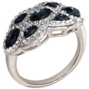 Ring 925 Sterlign Silber Swarovski Elements blau