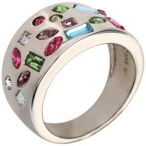Ring 925 St. Silber Swarovski Elements multicolor