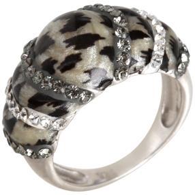 Ring 925 Sterling Silber Swarovski Elements Leo