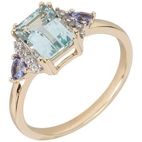 Ring 585 Gelbgold, Aquamarin