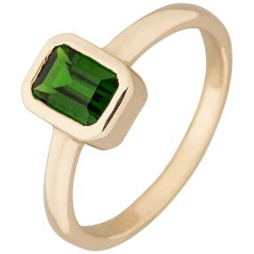 Ring 375 Gelbgold, Chromdiopsid