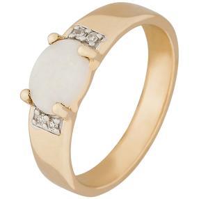 Ring 375 Gelbgold, Australischer Opal