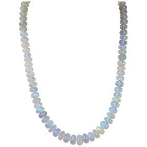 Collier Äthiopischer Opal ca. 45 cm