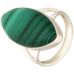 Ring 925 Sterling Silber Malachit