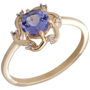 Ring 375 Gelbgold Tansanit, Zirkon