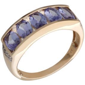 Ring 375 Gelbgold AATansanit, Zirkon