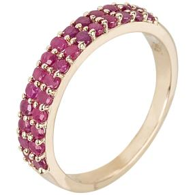 Ring 375 Gelbgold Rubin