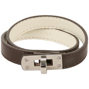 Armband Leder/Edelstahl braun