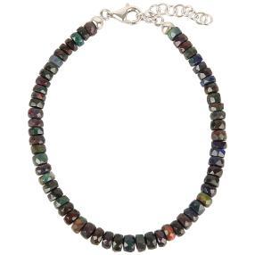 Armband Ätiopischer Opal 925 Sterling Silber