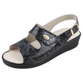 SANITAL LIGHT Damen-Sandalette Leder, schwarz