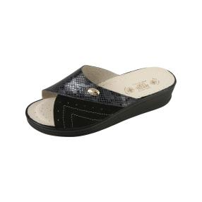 Sanital Light Damen-Leder-Pantolette, antracite