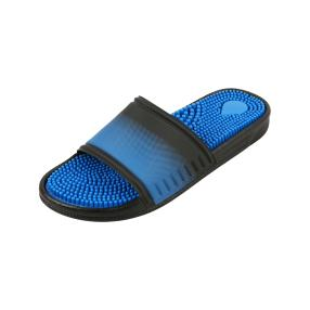 Sanitaria Herren-Pantolette blau,schwarz