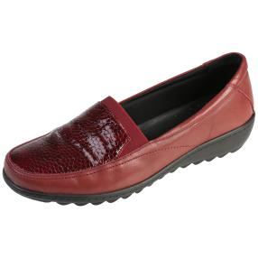 Dr. Feet Nappaleder Damen-Slipper burgundy