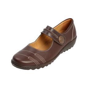 Dr. Feet Nappaleder Damen-Slipper dunkelbraun