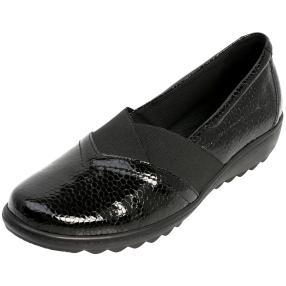 Dr. Feet Nappaleder Damen-Slipper schwarz