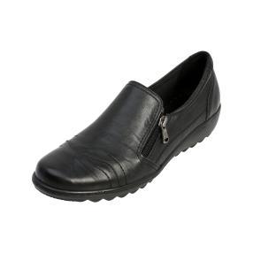 Dr. Feet Damen-Slipper schwarz, Nappaleder