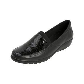 Dr. Feet Damen-Slipper Nappaleder schwarz