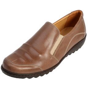 Dr. Feet Nappaleder Damen-Slipper braun