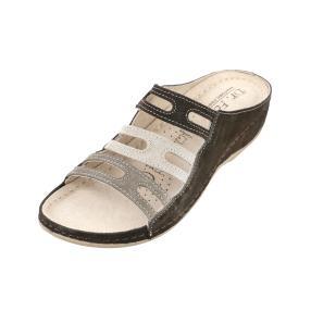 Dr. Feet Damen-Lederpantolette beige, braun, taupe